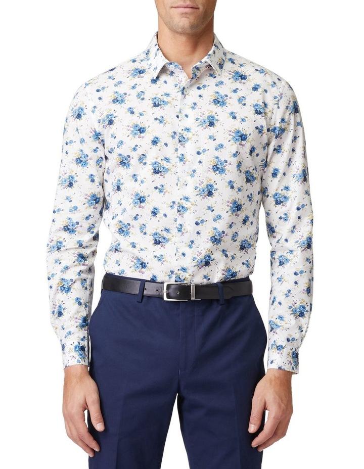 Blue Roses Mod Long-Sleeve Shirt image 1
