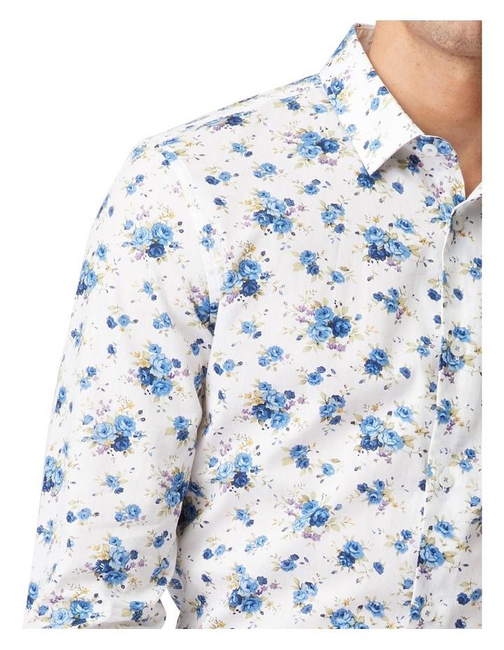 Blue Roses Mod Long-Sleeve Shirt image 4