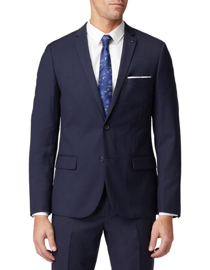 Navy Stretch Mod Suit Jacket image 1