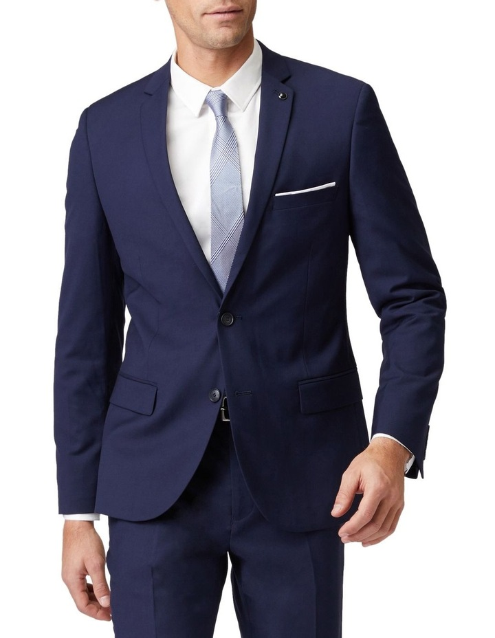 Blue Stretch Mod Suit Jacket image 1