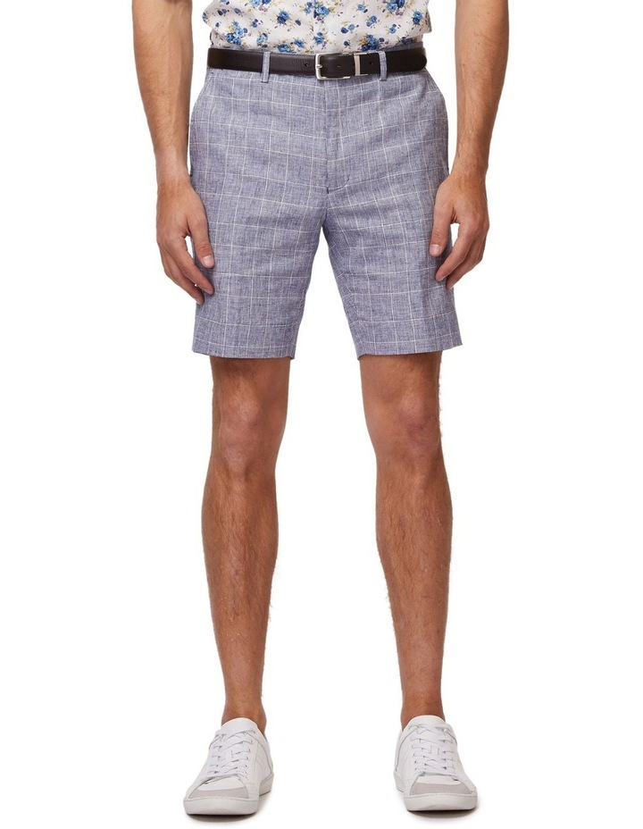 Linen Check Shorts image 1
