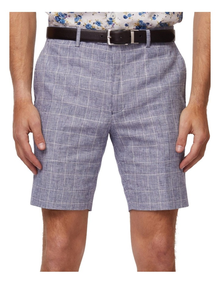 Linen Check Shorts image 4
