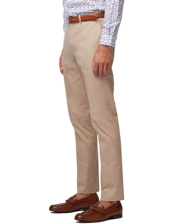 Taupe SS Dress Chinos image 2