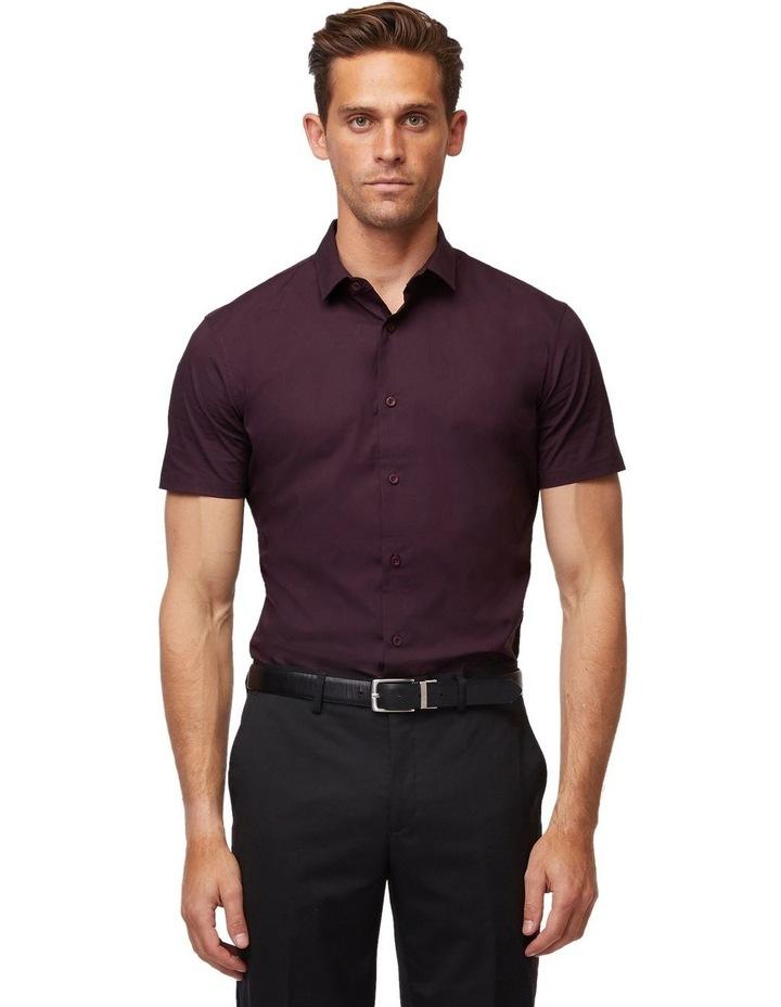Wine Stretch Short Sleeve Shirt image 1