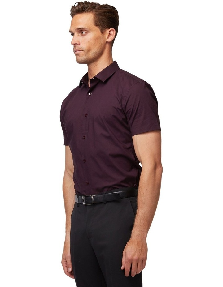 Wine Stretch Short Sleeve Shirt image 2