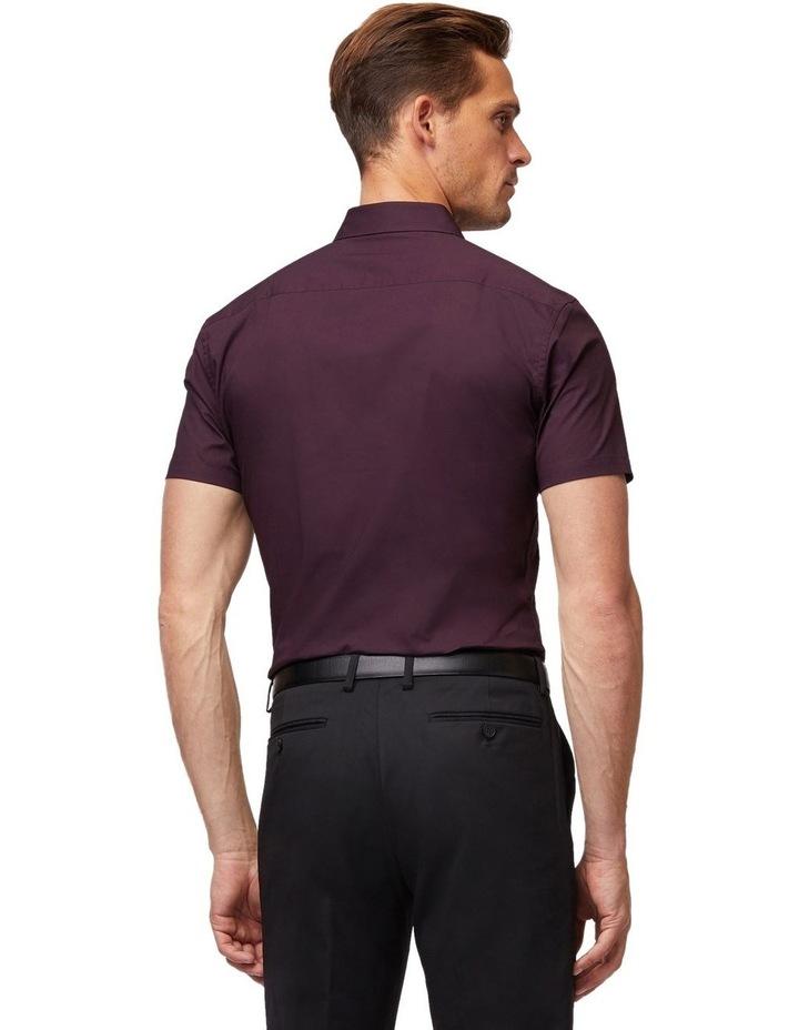 Wine Stretch Short Sleeve Shirt image 3