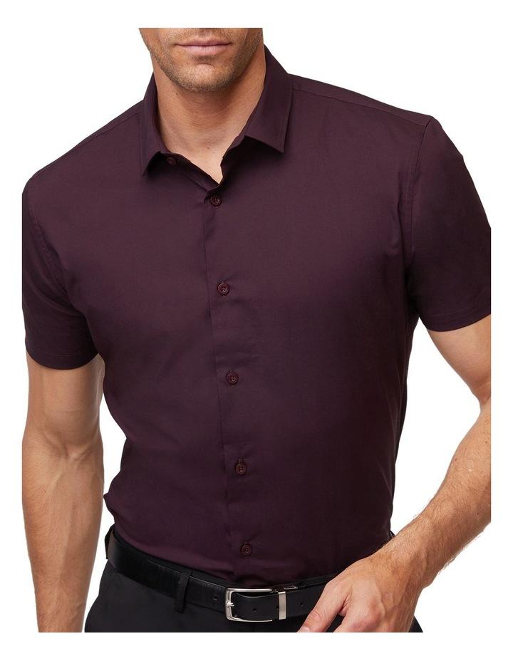 Wine Stretch Short Sleeve Shirt image 4