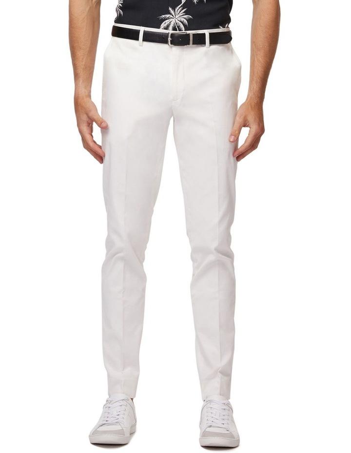 White Super Slim Dress Chinos image 1