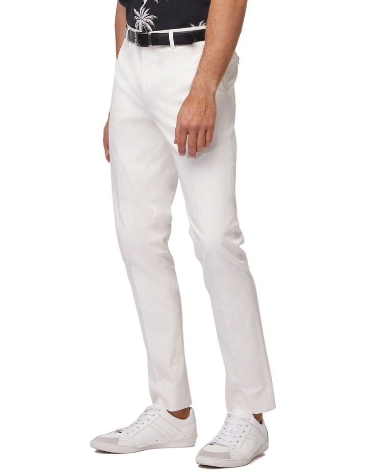 White Super Slim Dress Chinos image 2
