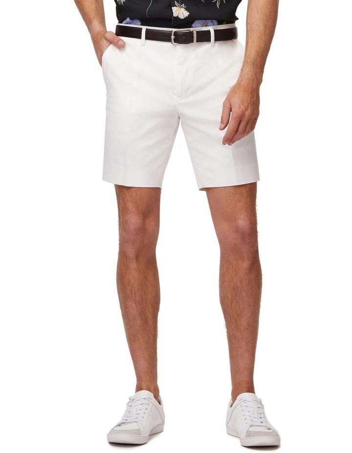 White Super Slim Dress Shorts image 1