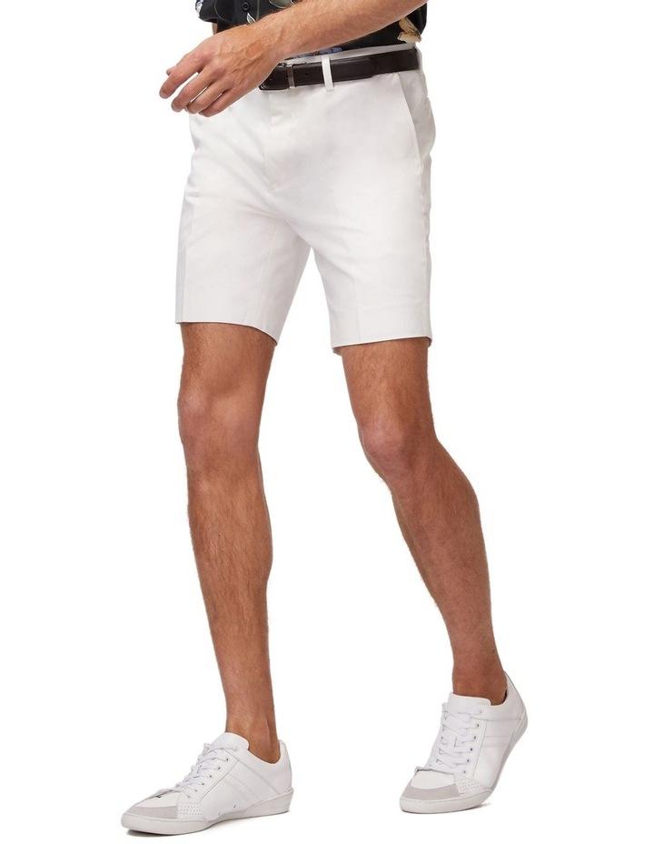 White Super Slim Dress Shorts image 2