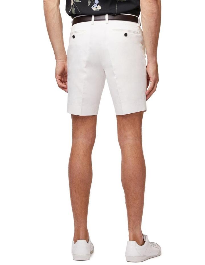 White Super Slim Dress Shorts image 3