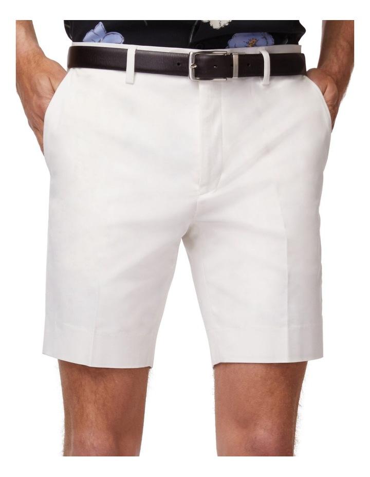 White Super Slim Dress Shorts image 4