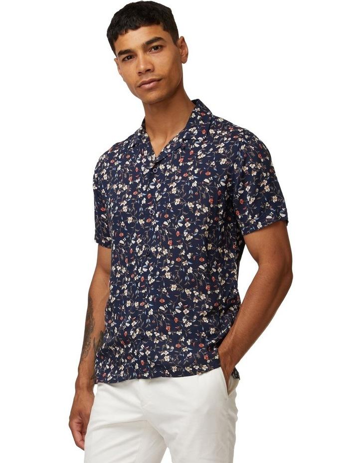 Navy Vines Short Sleeve Shirt image 1