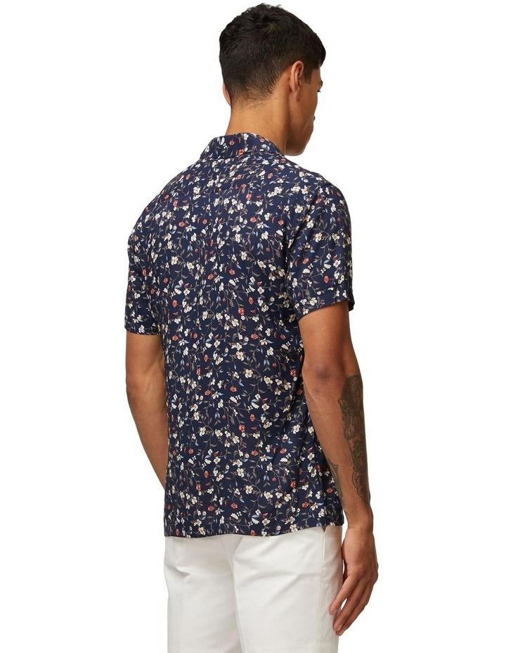 Navy Vines Short Sleeve Shirt image 3