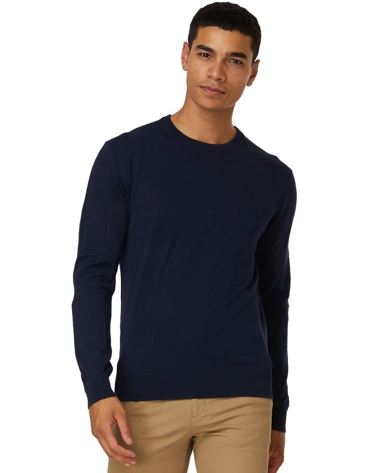 Blue Crew Neck Knit image 1