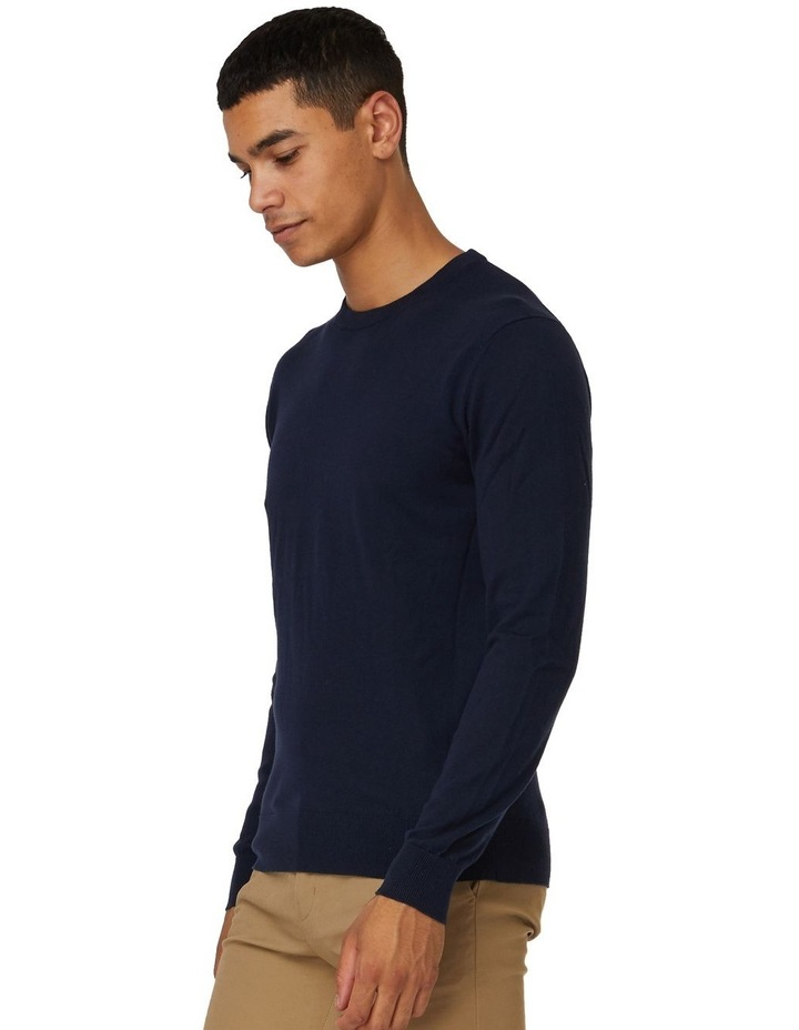 Blue Crew Neck Knit image 2