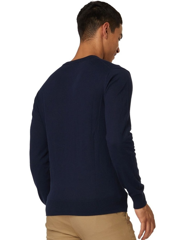 Blue Crew Neck Knit image 3