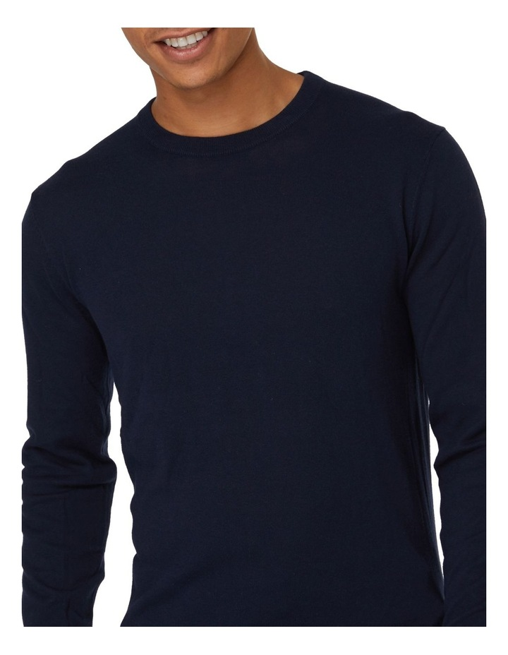 Blue Crew Neck Knit image 4