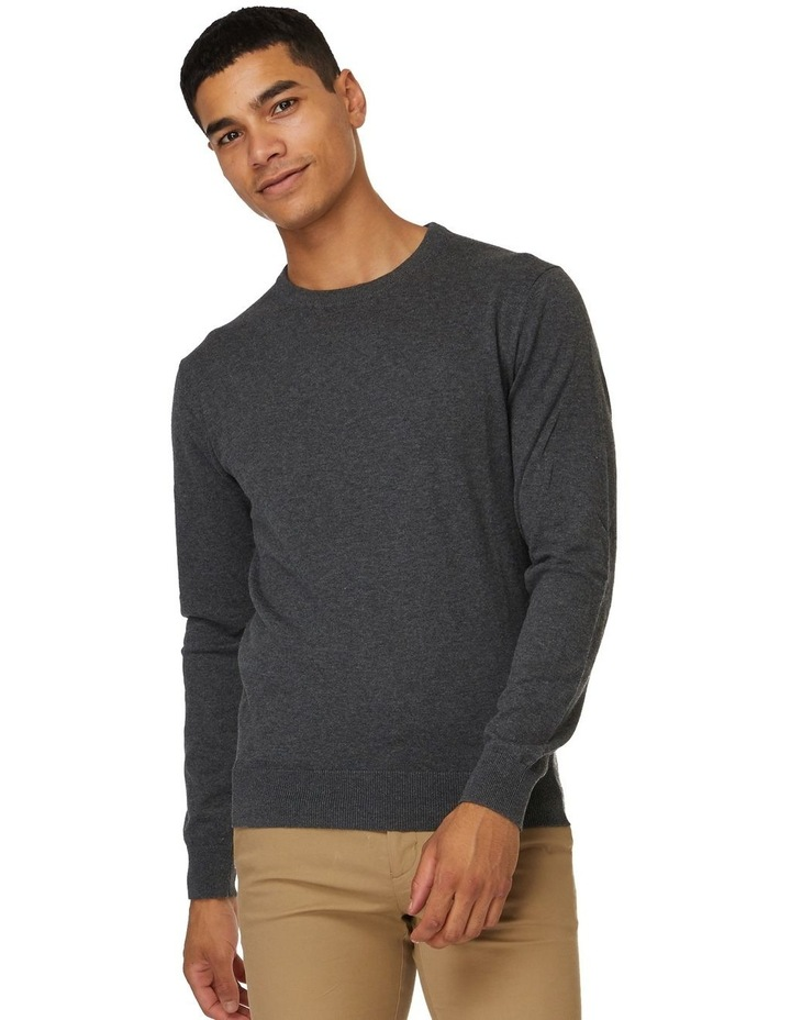 Dark Grey Crew Neck Knit image 1