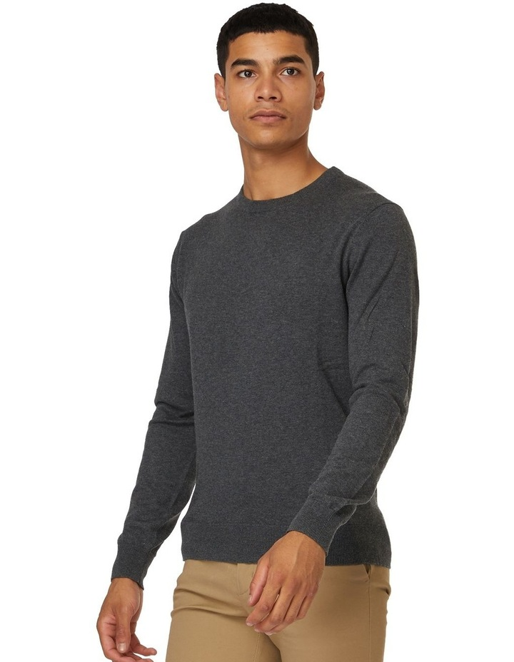 Dark Grey Crew Neck Knit image 2