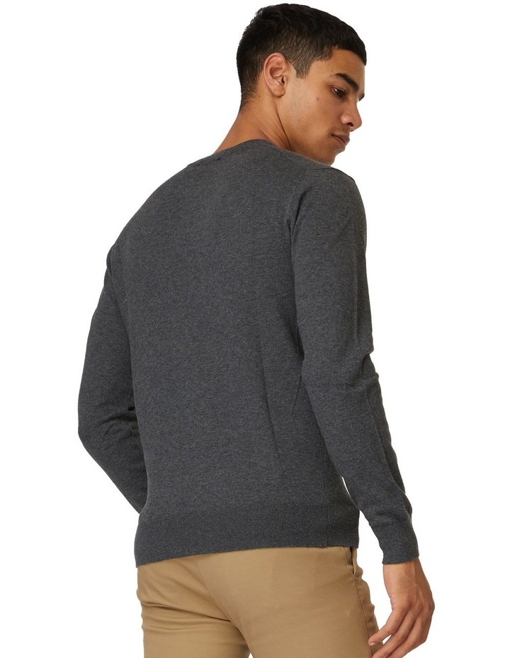 Dark Grey Crew Neck Knit image 3