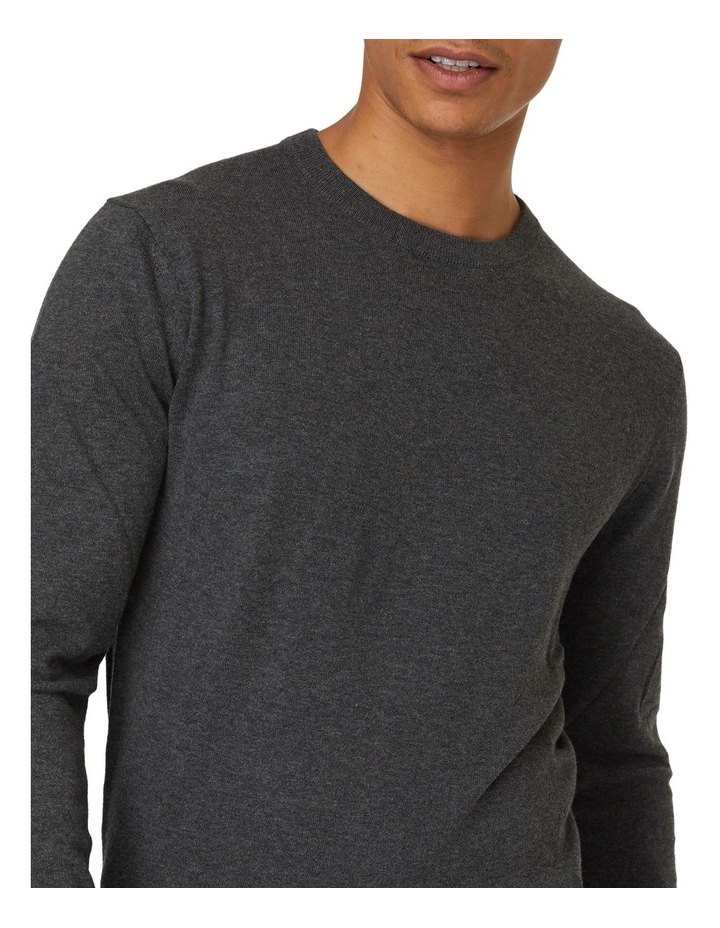 Dark Grey Crew Neck Knit image 4