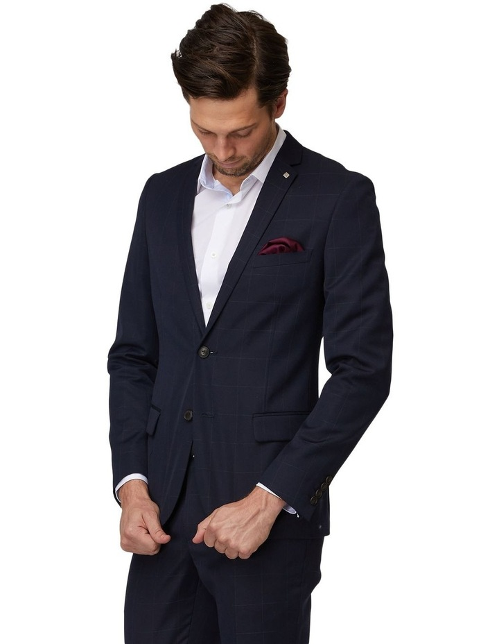 Navy Windowpane Suit Jacket image 2
