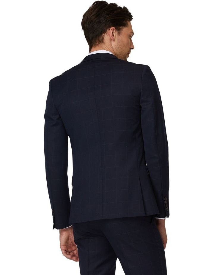 Navy Windowpane Suit Jacket image 3