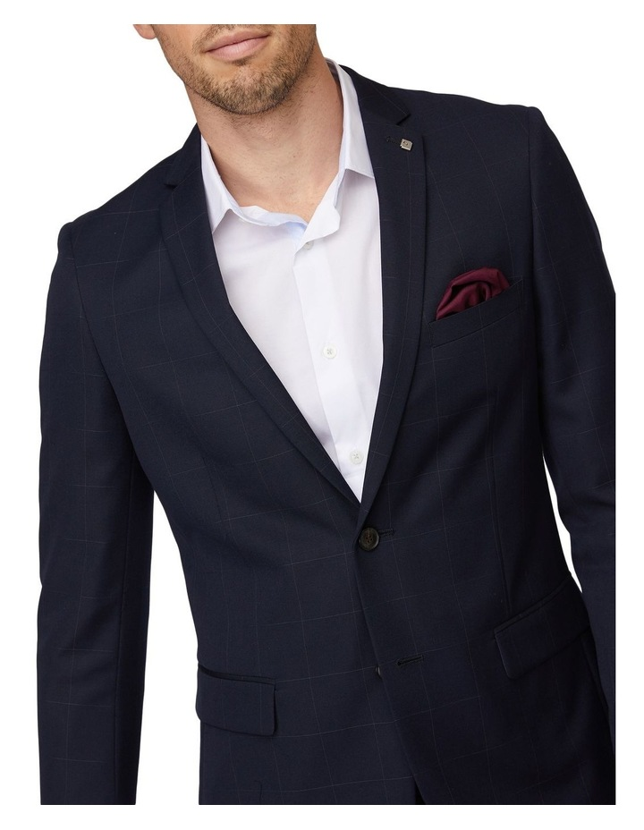 Navy Windowpane Suit Jacket image 4