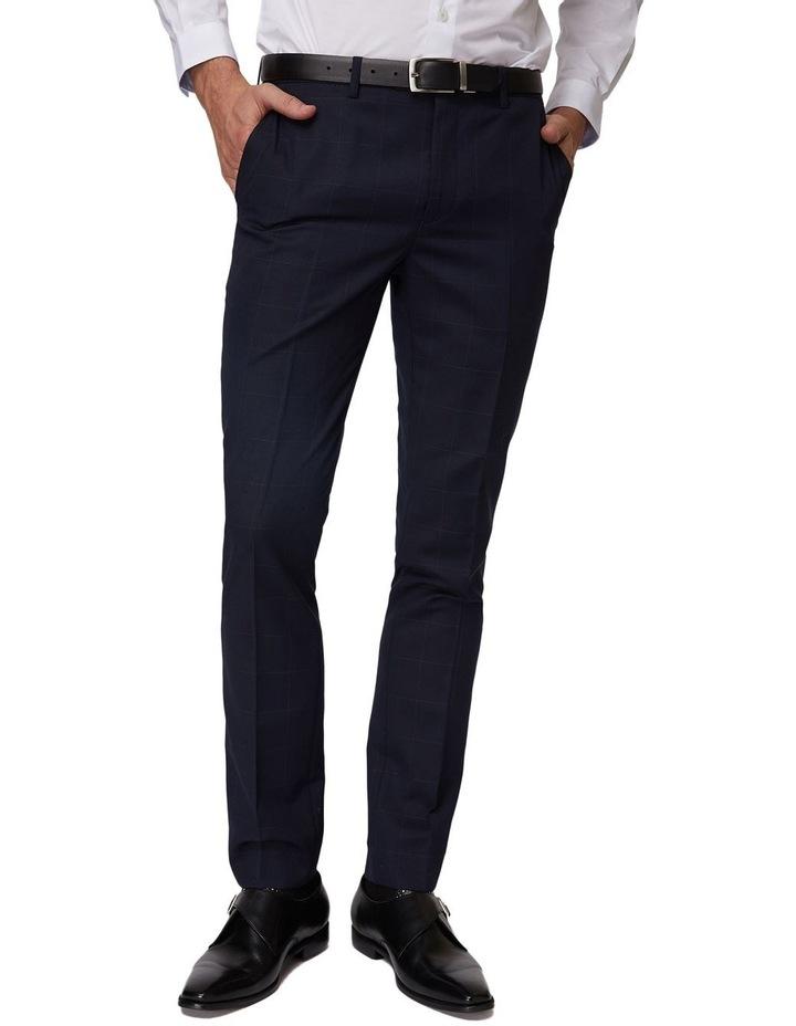 Navy Windowpane Suit Pants image 1