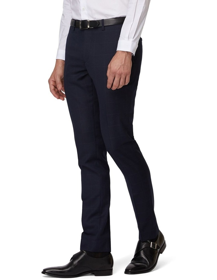 Navy Windowpane Suit Pants image 2
