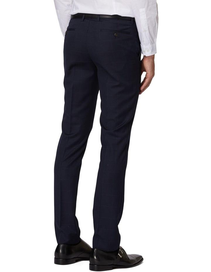 Navy Windowpane Suit Pants image 3