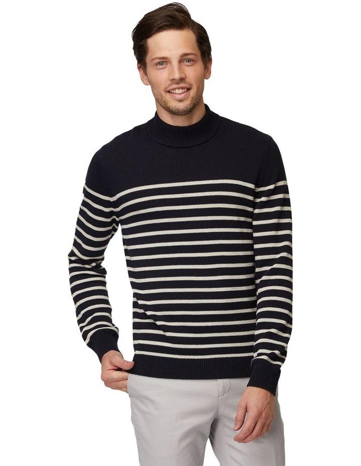 Stripe Turtleneck Knit image 1