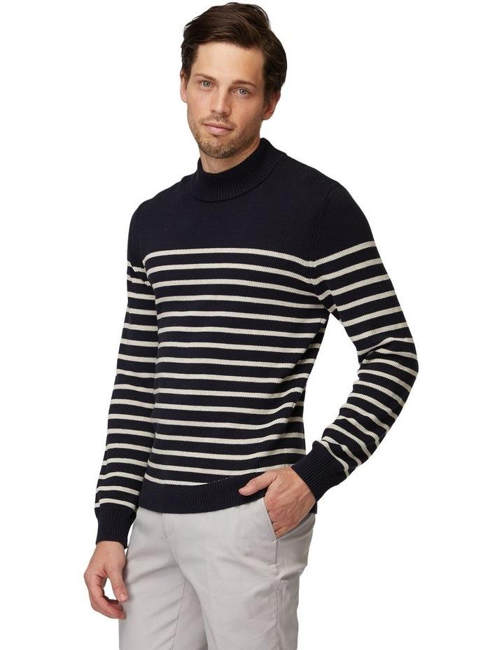 Stripe Turtleneck Knit image 2