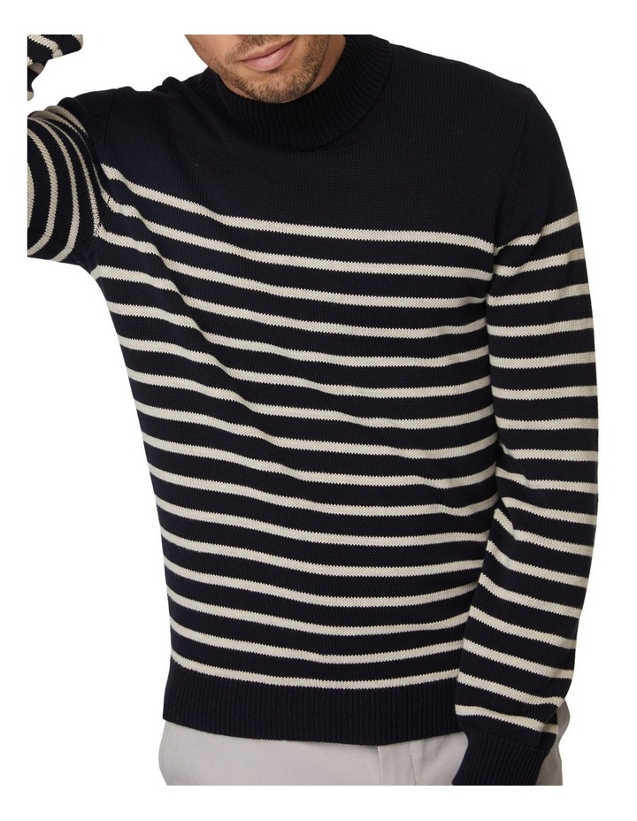 Stripe Turtleneck Knit image 4