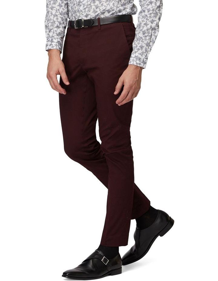 Burgundy SS Dress Chinos image 2