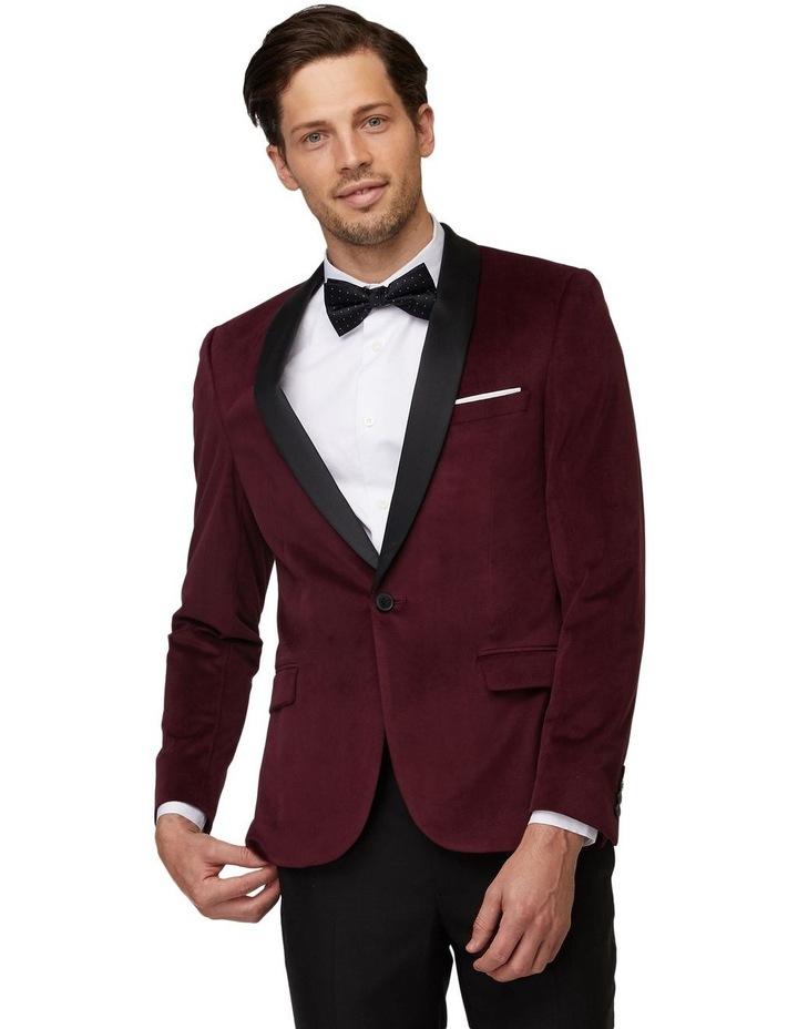 Burgundy Velvet Tuxedo Jacket image 1