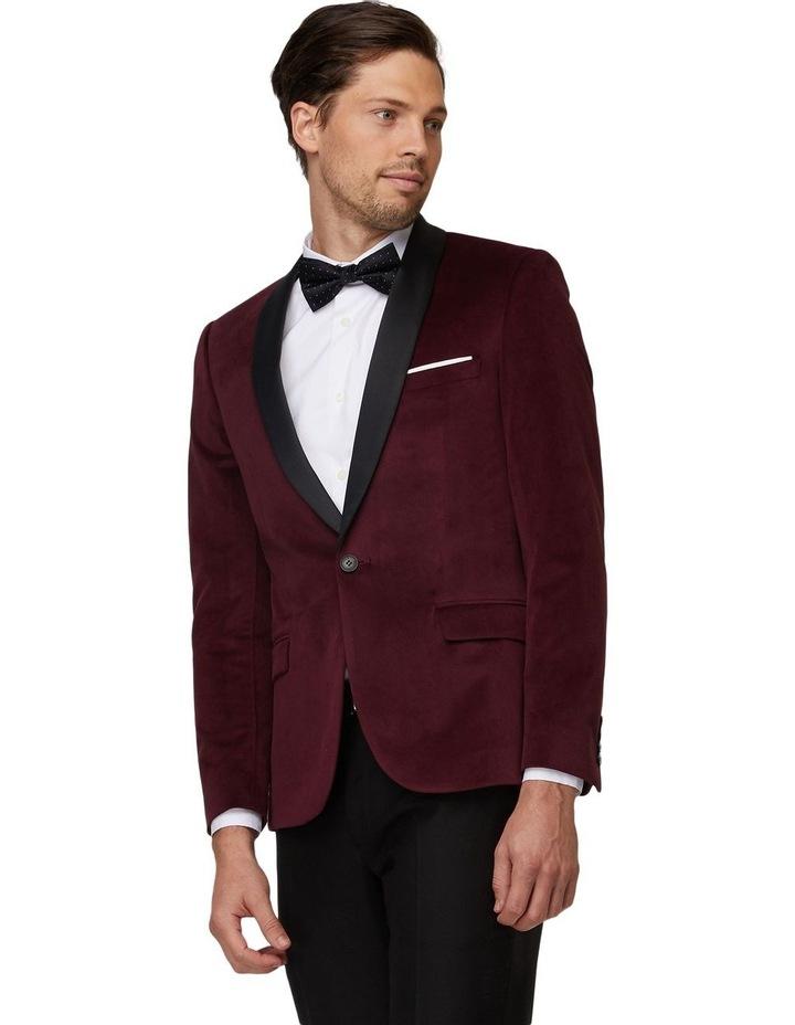 Burgundy Velvet Tuxedo Jacket image 2