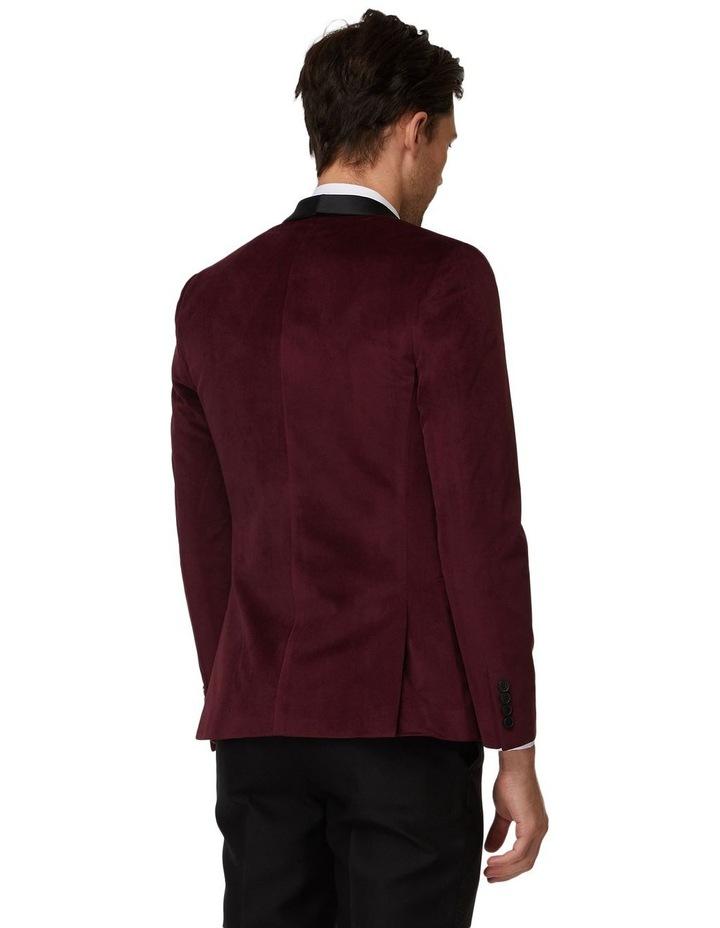 Burgundy Velvet Tuxedo Jacket image 3