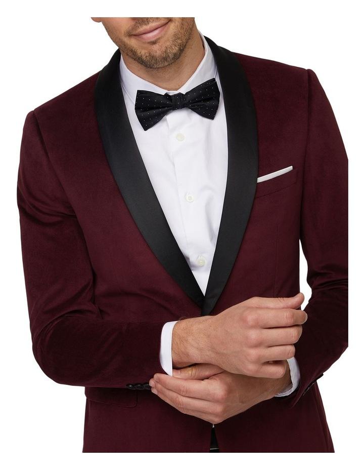 Burgundy Velvet Tuxedo Jacket image 4