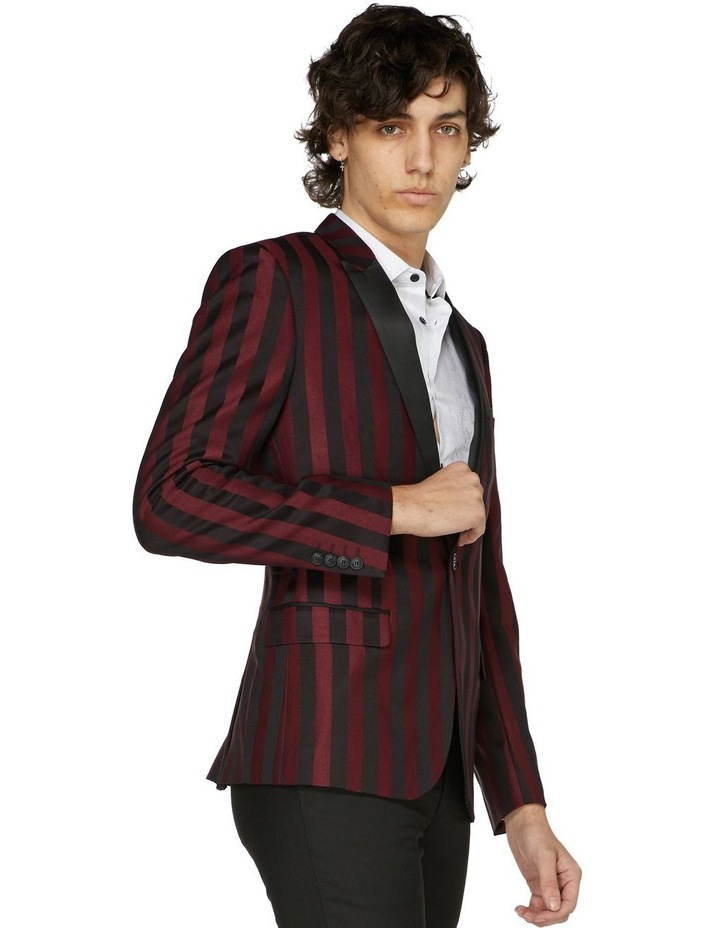 Burgundy Stripe Cocktail Jacket image 1