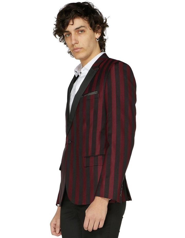 Burgundy Stripe Cocktail Jacket image 2