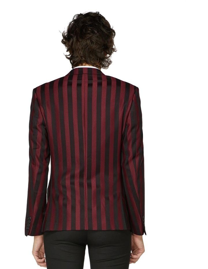 Burgundy Stripe Cocktail Jacket image 3