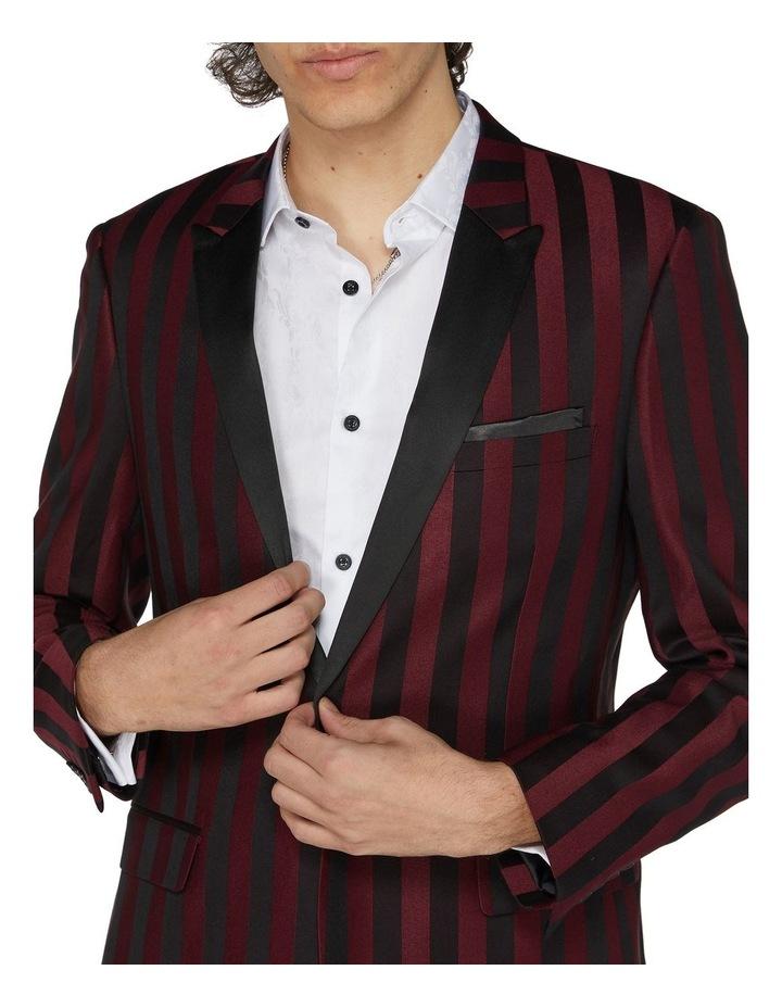 Burgundy Stripe Cocktail Jacket image 4