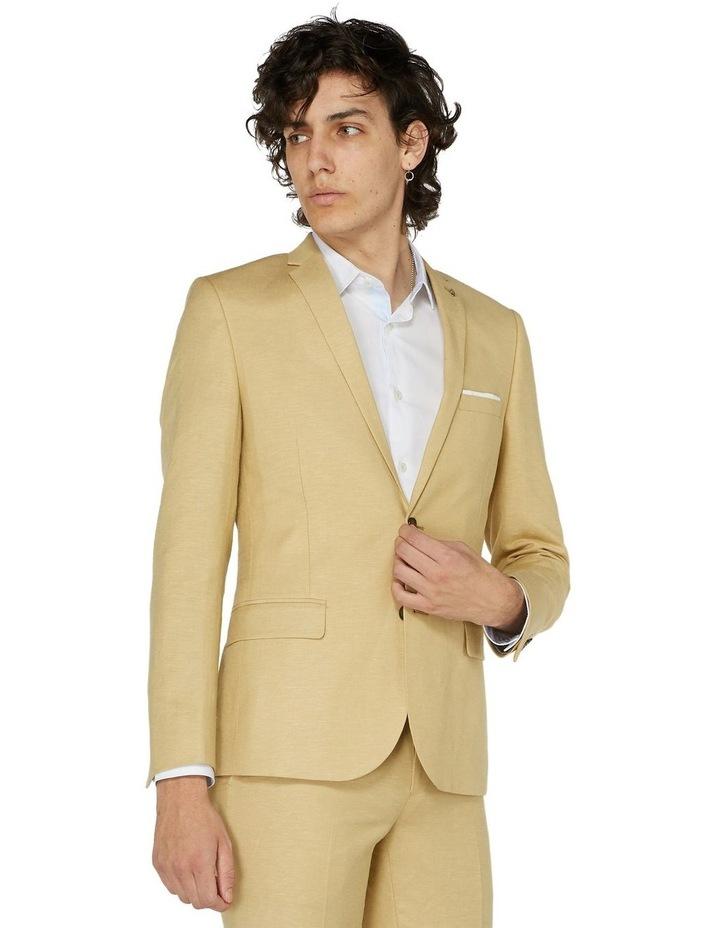 Fawn Linen Suit Jacket image 1