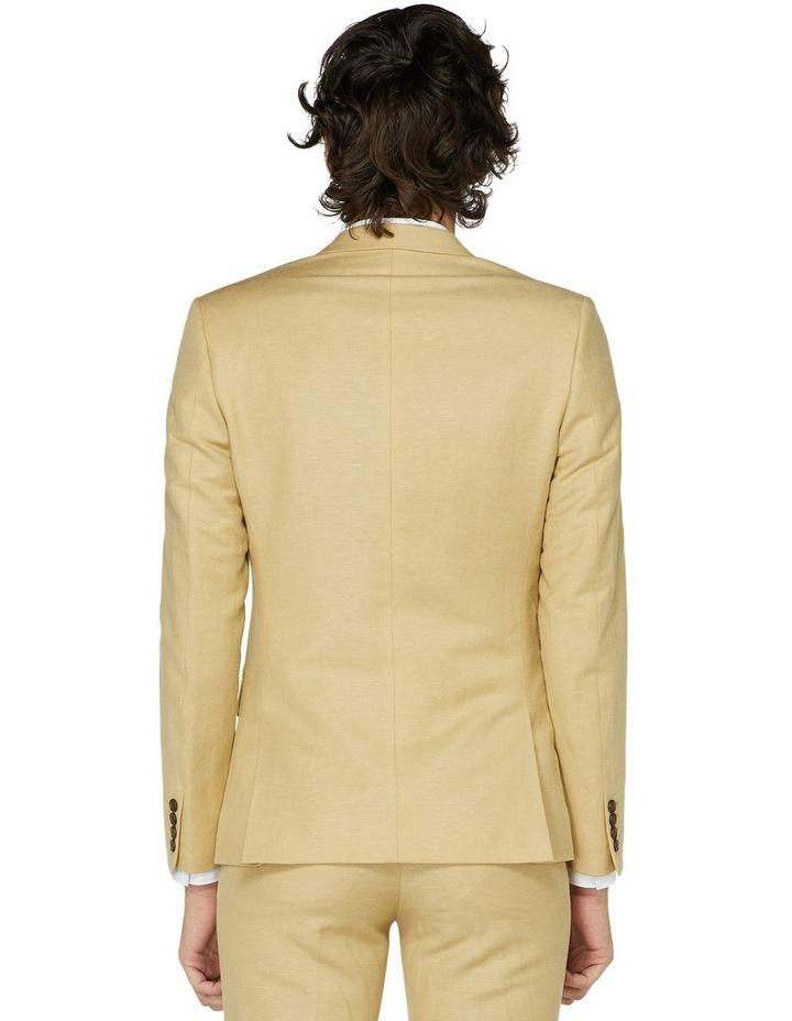 Fawn Linen Suit Jacket image 3