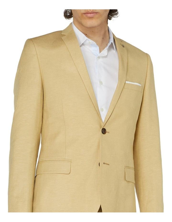 Fawn Linen Suit Jacket image 4