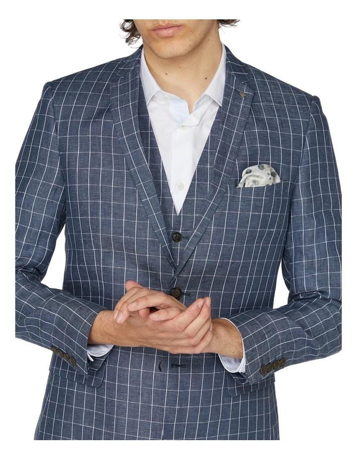 Linen Check Blazer image 4