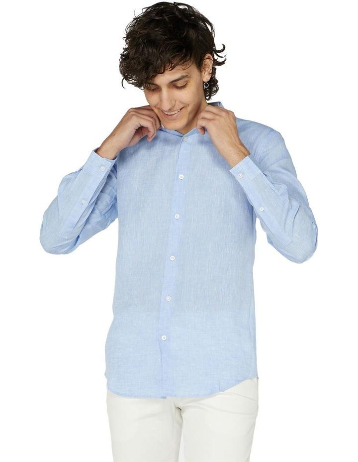 Blue Linen Resort Shirt image 1